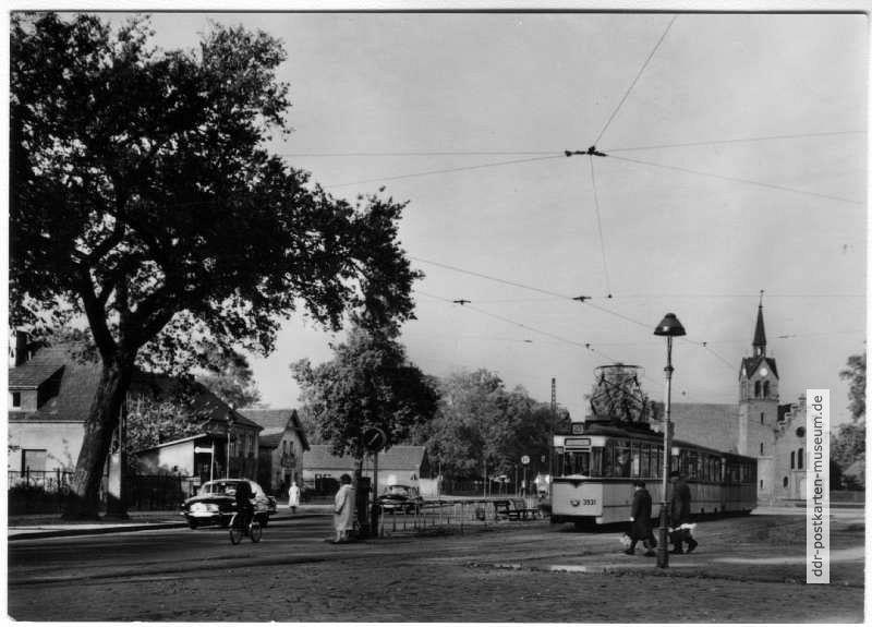 Hauptstraße Straßenbahn Linie 49 1969 Ddr Postkarten Museum