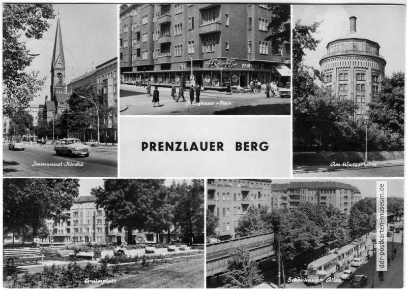 kirche kaufhaus fix wasserturm arnimplatz sch nhauser allee 1970 ddr postkarten museum. Black Bedroom Furniture Sets. Home Design Ideas